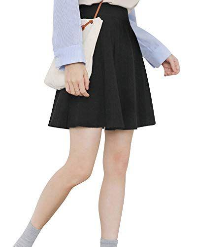 b499963f2 PengGengA Mujer Falda Mini De Cintura Alta Casual Elástica Jersey ...
