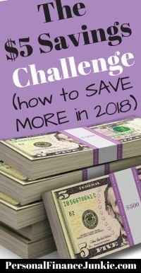5 dollar challenge to save more money. #savingschallenge #personalfinancejunkie