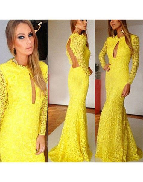 longhems.com long-yellow-dress-21 #longdresses