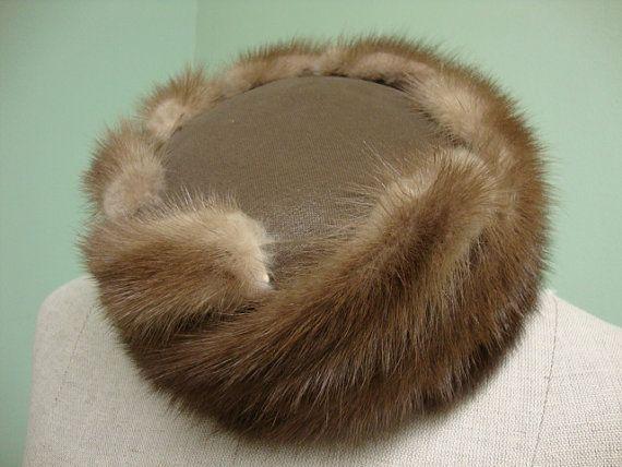 Vintage Genuine Fur Hat Styled by Coralie by ScaryDollVintage, $55.00