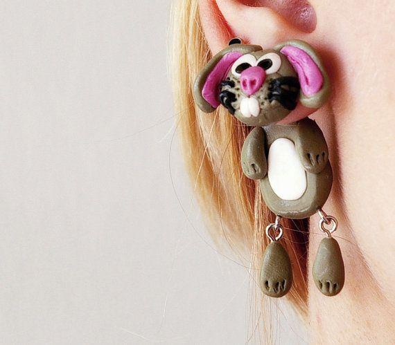 fake+gauge+plug+two+part+earrings+funny+by+JEWELRYandPLEASURE,+$16.00