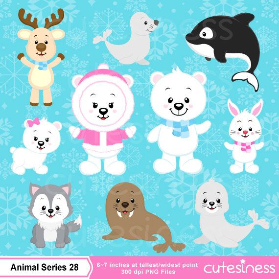 Polar bear Clipart Polar bear clipart Arctic animal by Cutesiness