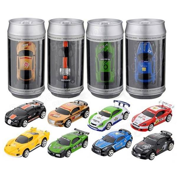 Coke Can Mini RC Radio Remote Control Micro Racing Car 4 Frequencies Sale - Banggood.com