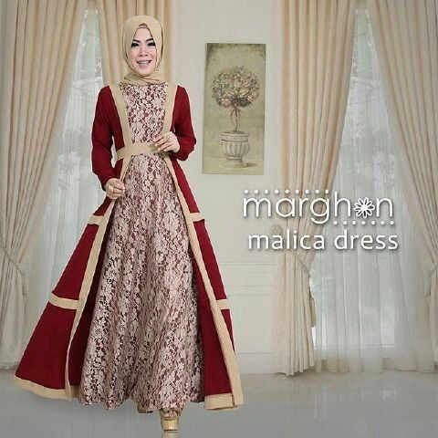 Gamis Brokat Malica Dress Online - http://www.butikjingga.com/gamis-brokat-malica-dress