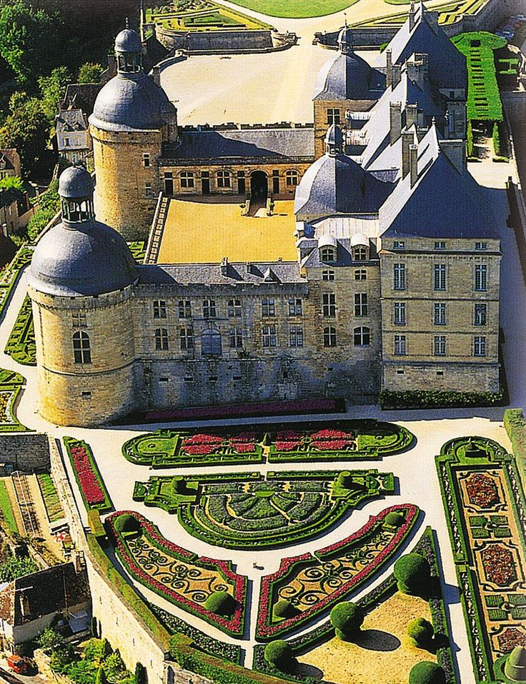 Le Château de Hautefort in France #gardeners London, gardening London, garden design London, garden maintenance London, landscaping London