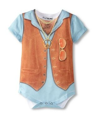 52% OFF Faux Real Kid's Harry Chest Romper (Brown)