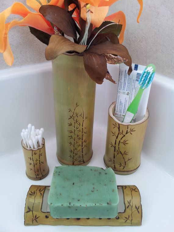 Check out this item in my Etsy shop https://www.etsy.com/listing/158860417/4-pc-bamboo-bathroom-set-tooth-brush