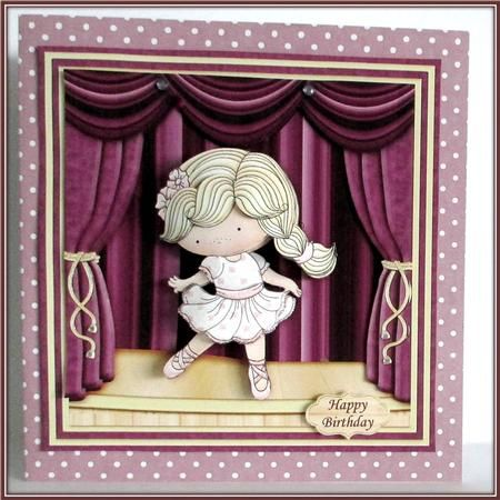 BALLERINA IZZY 8x8 Mini Kit Decoupage Ages on Craftsuprint designed by Janet Briggs - made by Rae Trees