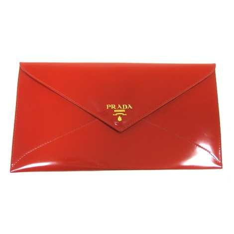Prada Ruby Red Patent Leather Envelope Clutch | Beautiful Bags ...