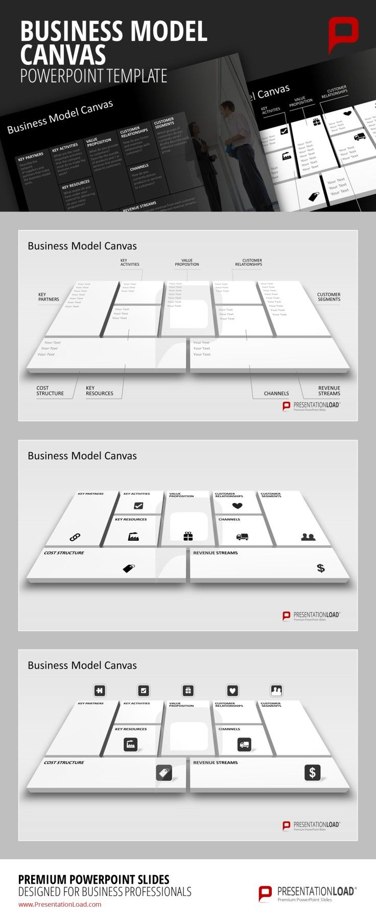 37 best business model canvas powerpoint templates images on business model canvas powerpoint template the management tool business model canvas was developed according to alexander osterwalder toneelgroepblik Image collections