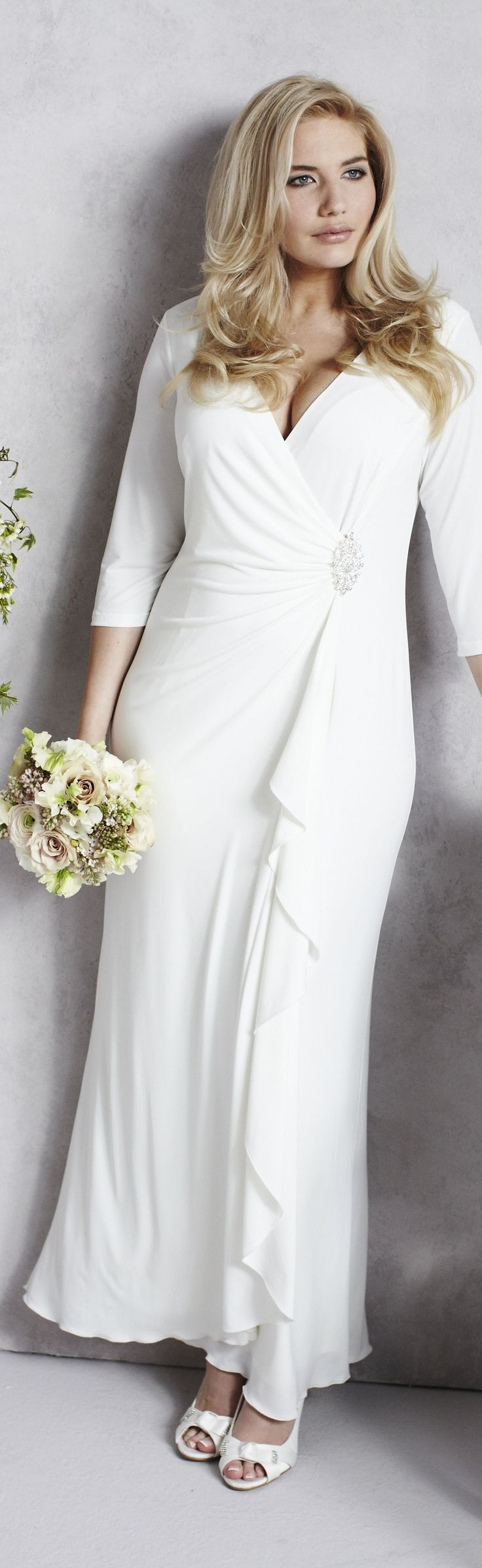 Long sleeve casual wedding dress   best Wedding Gaby images on Pinterest  Wedding frocks Bridal