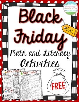 FREE Black Friday Math and Literacy Activity. Your students will have a blast learning about Black Friday and practicing their math and reading skills with this 2-page freebie!
