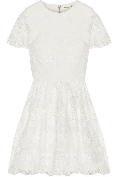 Alice + Olivia | Karen lace mini dress | NET-A-PORTER.COM