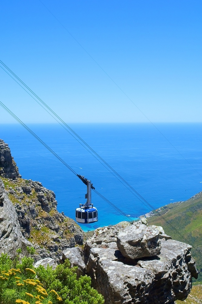 See Cape Town from atop Table Mountain after a ride in the cableway.