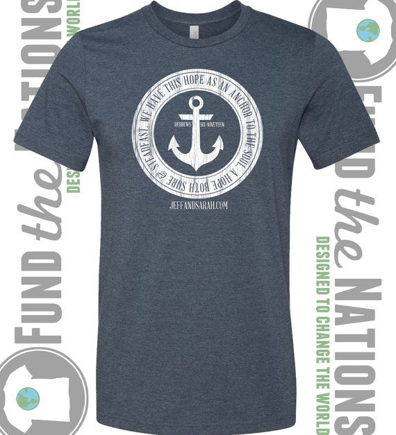 Adoption fundraiser hope as an anchor t shirt for T shirt fundraiser site