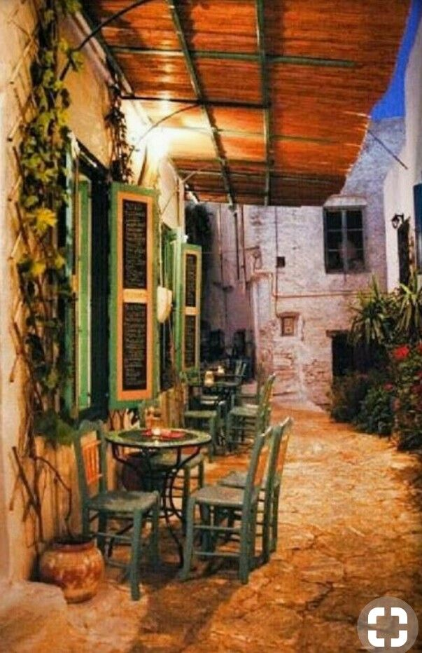 Small cafe in Amorgos island~Kikladhes~Greece