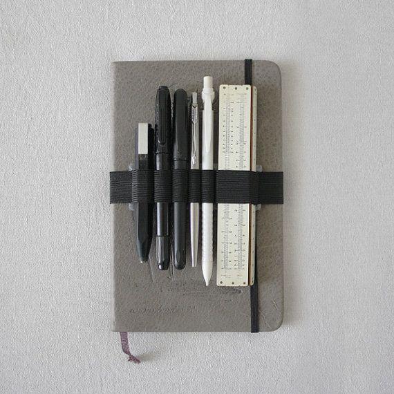 Moleskine Pen holder Journal band felt and elastic by ENJOYyourway
