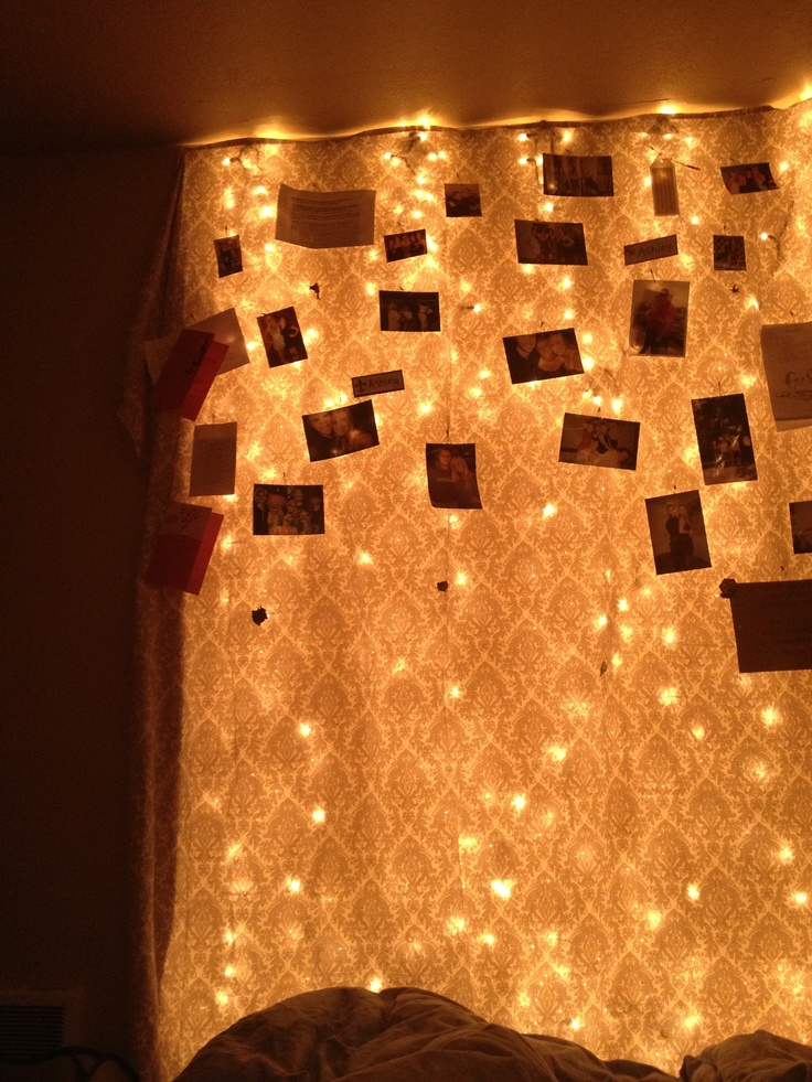 My bedroom wall christmas lights covered in a sheet use - Lights to hang on wall ...