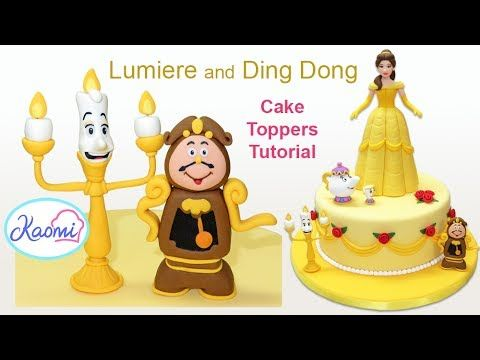How to make Lumiere and Ding Dong / Cómo hacer a Lumiere y Ding Dong en pasta de goma - YouTube