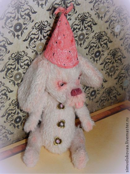 Земляничный кексик - розовый,щенок,тедди,подарок девушке,друг,ручная работа