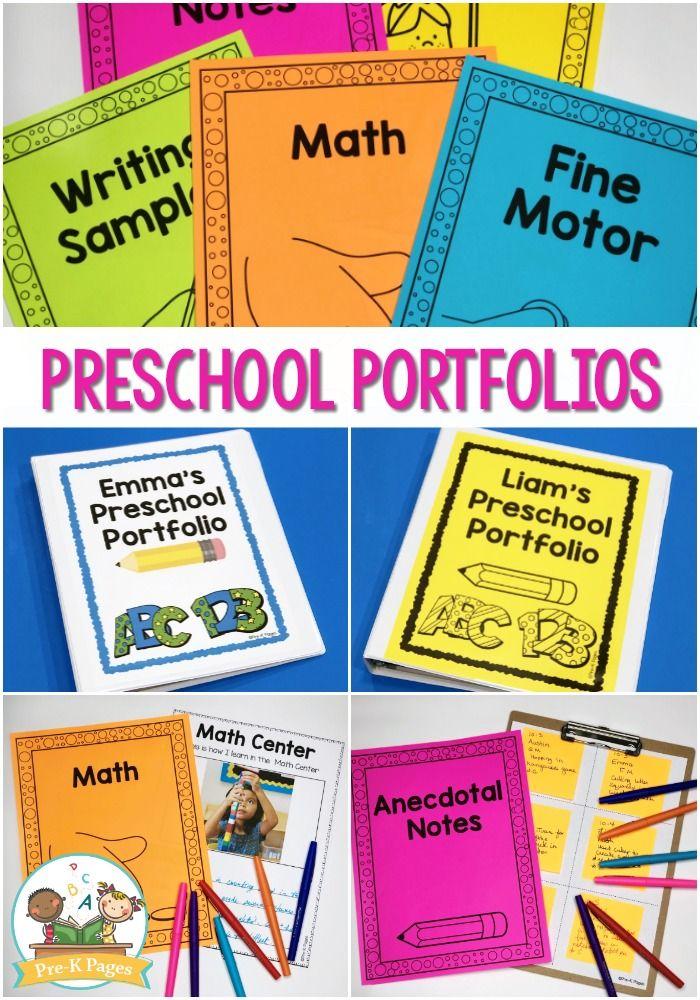 Preschool Portfolio Ideas PRESCHOOL PRINTABLES Preschool