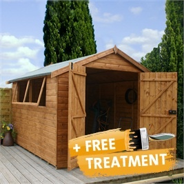 12 X 8 Waltons Groundsman Tongue And Groove Apex Garden Shed On Walton  Garden Buildings