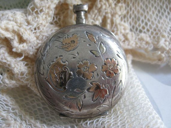 Antique Silver Pocket Watch TLC