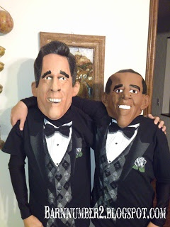 Costume-Mit Romney and Barack Obama
