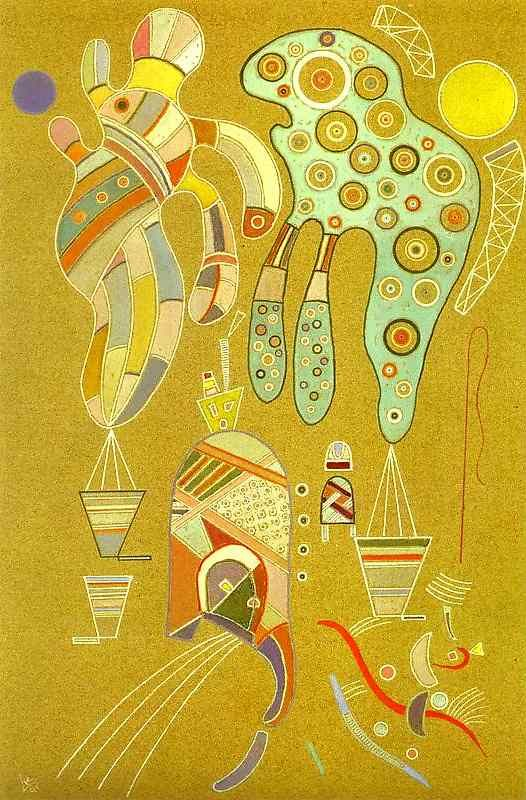 , huile de Wassily Kandinsky (1866-1944, Russia)