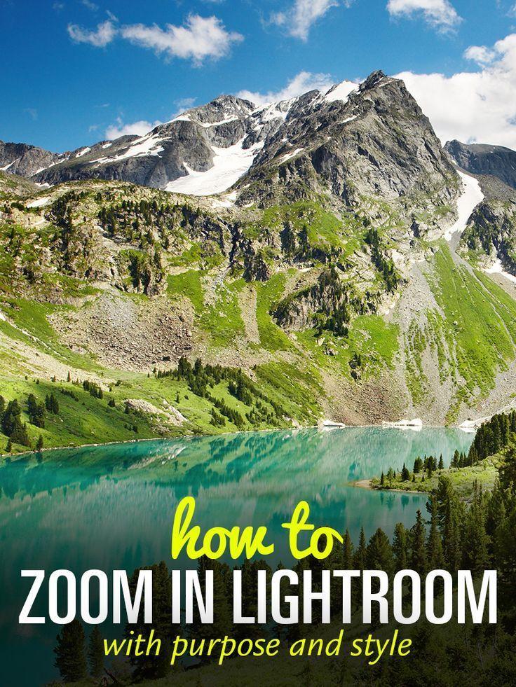 How to zoom in in lightroom