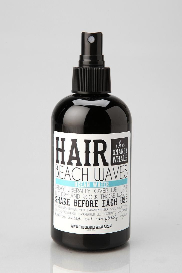 All natural, vegan wave spray from The Gnarly Whale! Smells so good and gives you wave, lift, and texture for beachy hair anywhere.