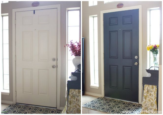 More Painted Interior Doors | Before and After - Decorchick! Looove the black…
