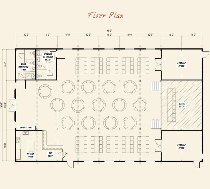 Pre Designed Event Center Ponderosa Country Barn Main Floor Plan Layout Event Layouts Floor