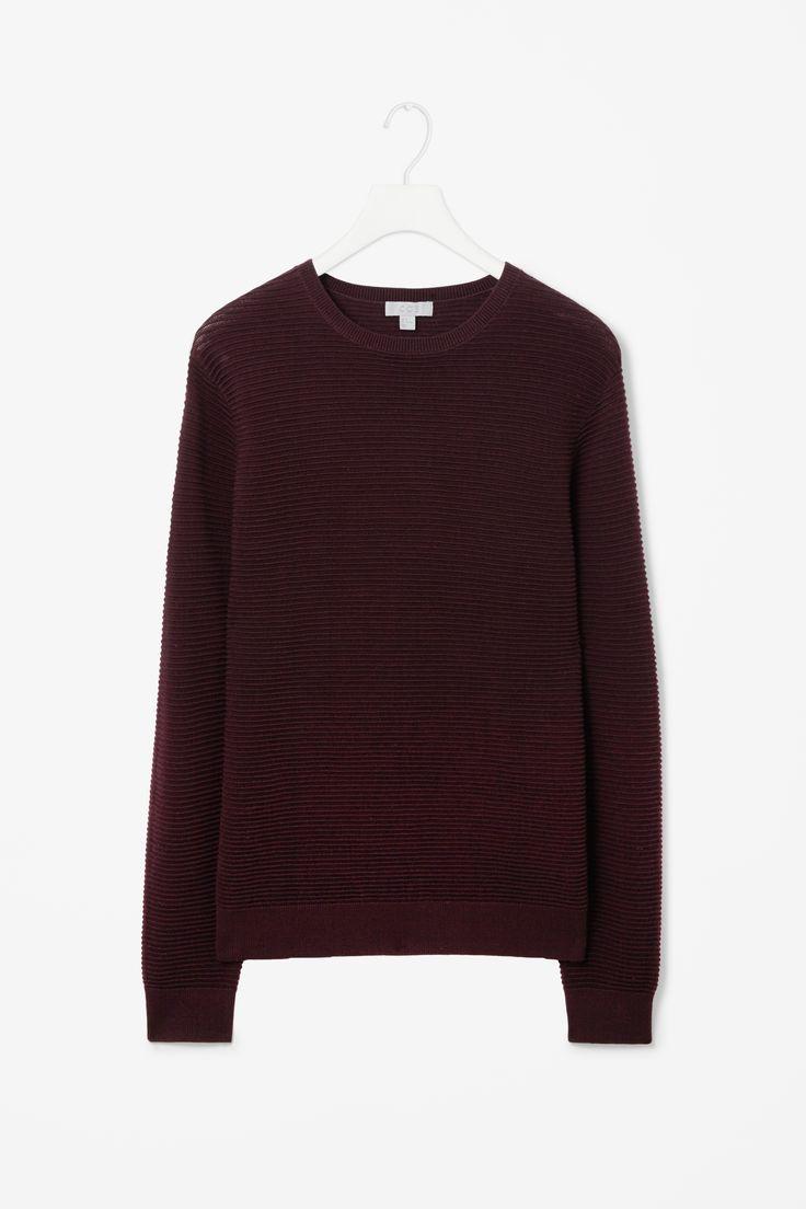 Wool-rib effect jumper