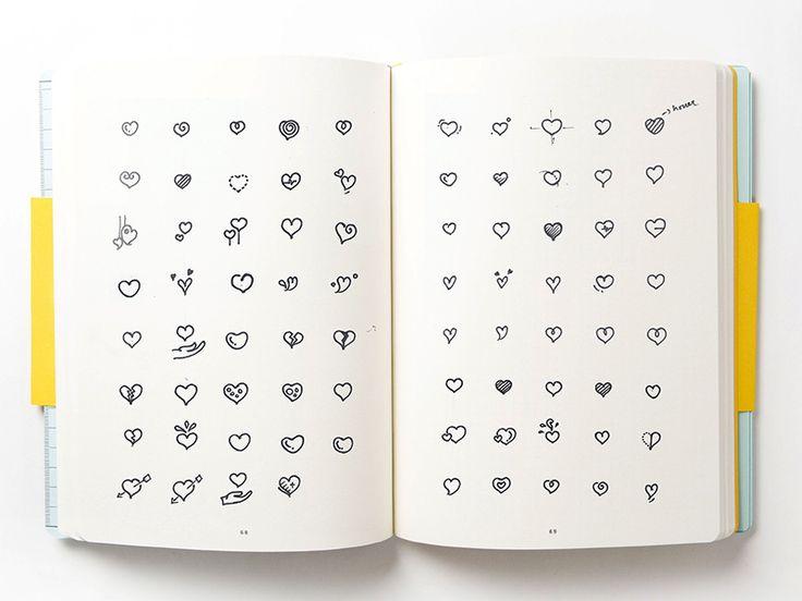 Heart Icons Sketch by Sarath Jayaprakash