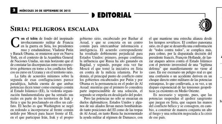 #ClippedOnIssuu from La Jornada, 09/30/2015
