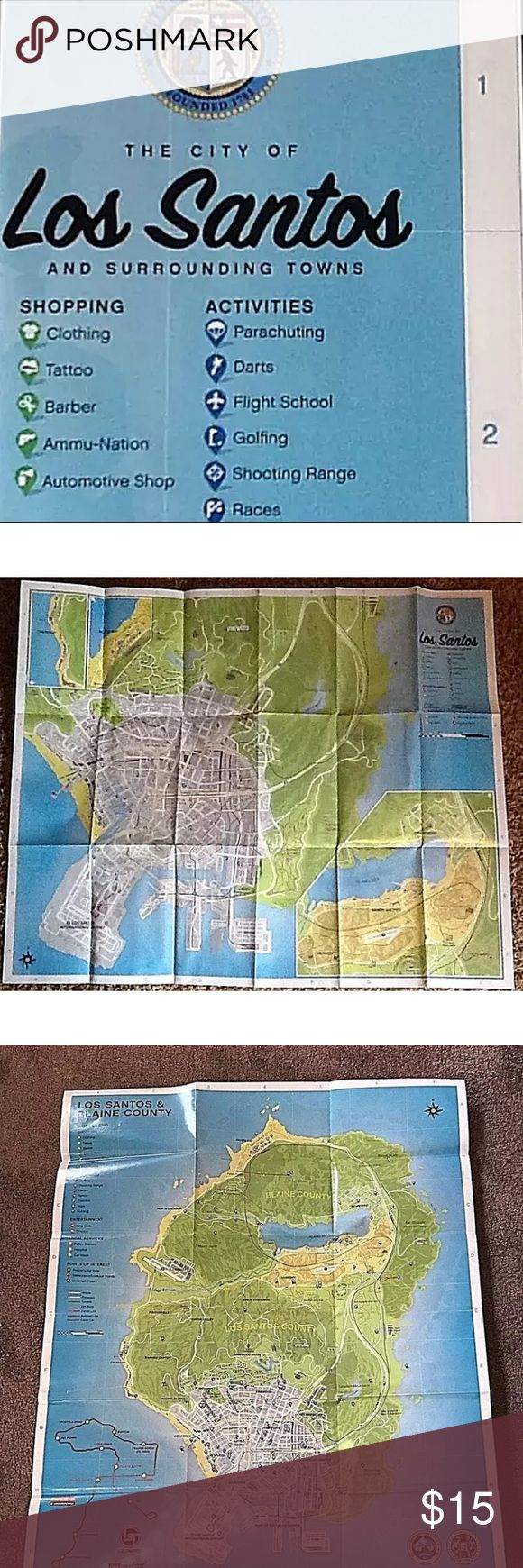 Selling this Xbox 360, PS4,PS3, Xbox One GRAND THEFT AUTO MAP on Poshmark! My username is: queenofresell. #shopmycloset #poshmark #fashion #shopping #style #forsale #Rockstar #Other
