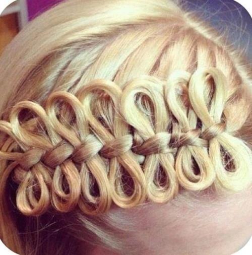 Bow braid. Super cool!Hairbows, Hair Ideas, Hairstyles, Makeup, Beautiful, Hair Bows, Hair Style, Bows Braids, Girls Hair