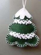 39 Brilliant Ideas How To Use Felt Ornaments For Christmas Tree Decoration 28