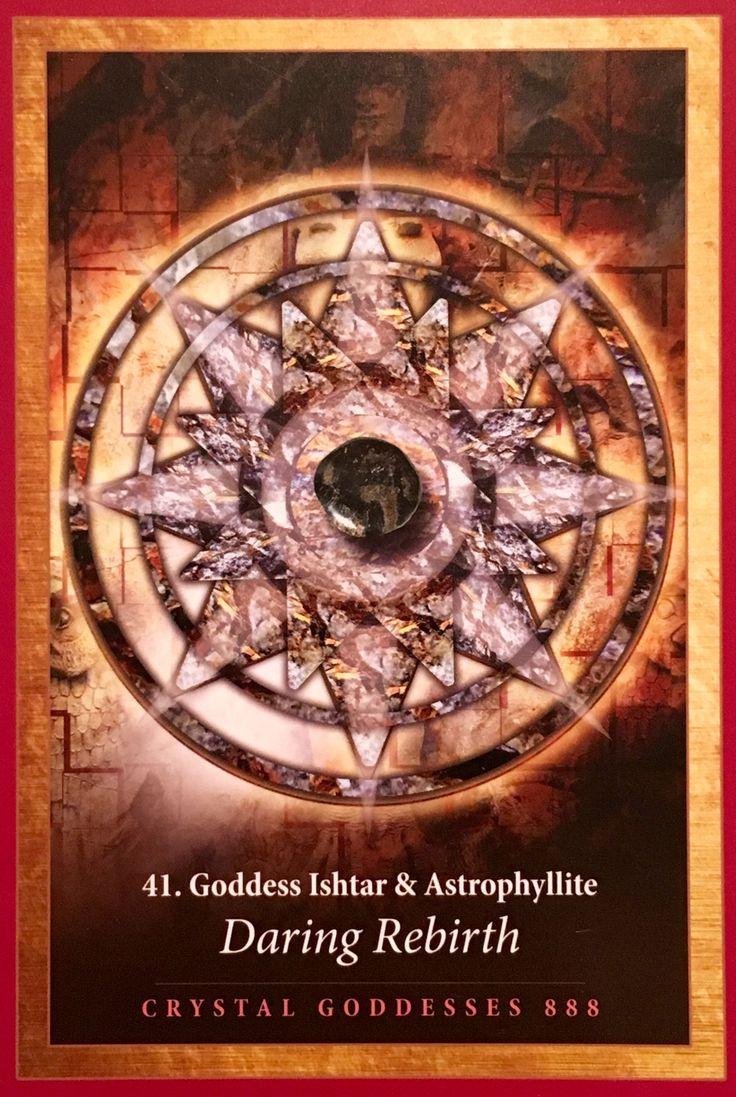 Goddess Ishtar & Astrophyllite, from the Crystal Mandala Oracle Card deck, by Alana Fairchild Artwork by Jane Marin