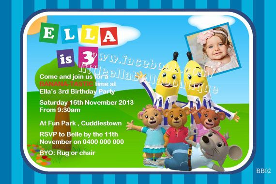Bananas in Pyjamas Personalized Personalised Theme Party