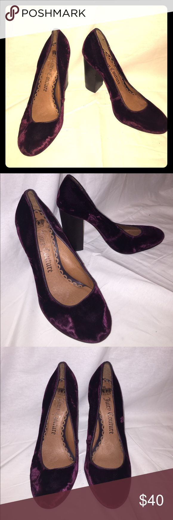 Maroon Velour Juicy Couture Pumps size 8.5 These are used Juicy Couture pumps with a soft Velour fabric. Maroon or burgundy colored. Size 8.5. Juicy Couture Shoes Heels