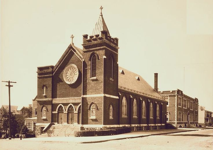 1924 view of St Brendan Church at the corner of Perry Ave and 207th St by Wurtz Bros from the Museum of the City of New York
