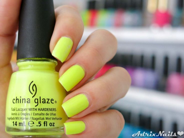 China Glaze - Celtic Sun- #nails #nailart #esmaltes #neon #ChinaGlaze #CelticSun