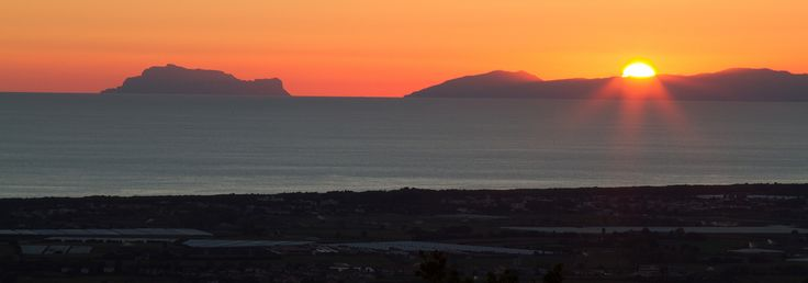 Capri Sunset View from Borgo la Pietraia Paestum Salerno Italia