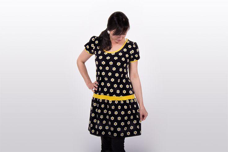 Jerseykleid selbernähen - Tutorial aus Shirt Schnittmuster wird ein Kleid