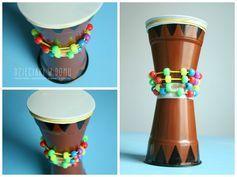 Muziekinstrumenten maken met kleuters, thema Afrika