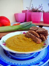 Vege Szamanka: Zupa krem z porów i jabłek