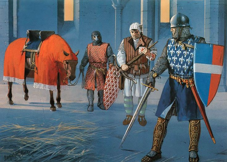 Central Italy, 13th century • Tuscan knight in Papal service, early 13th century • Militia crossbowman, Volterra, mid-13th century • Tuscan knight of the Alighieri family, late 13th century