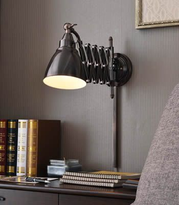 Kenroy home 32197ani and 32197cbz floren swing arm wall lamps scissor adjustable reading wall lamp puts light right where you want it